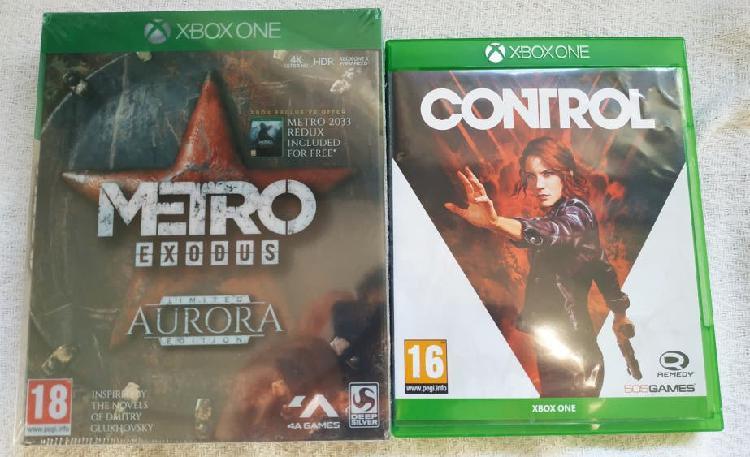 Xbox one juegos metro exodus aurora y control