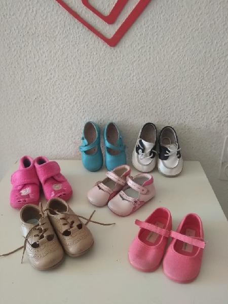 Lote zapatos niña talla 21