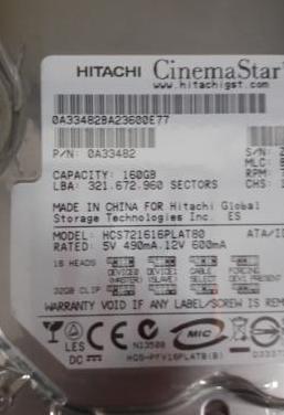 Disco duro 160gb hitachi nuevo