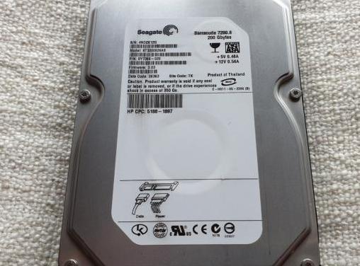 Disco duro 3.5 hdd sata seagate 200gb