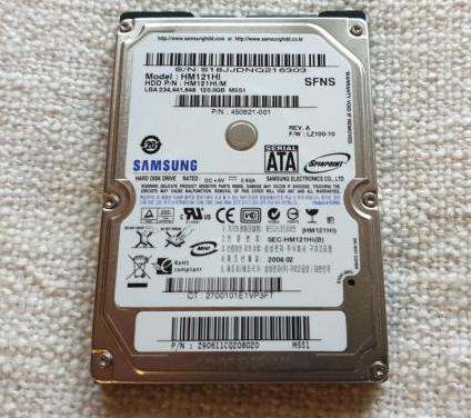 Disco duro hdd 2.5 samsung hm121hi 120gb sata ps3