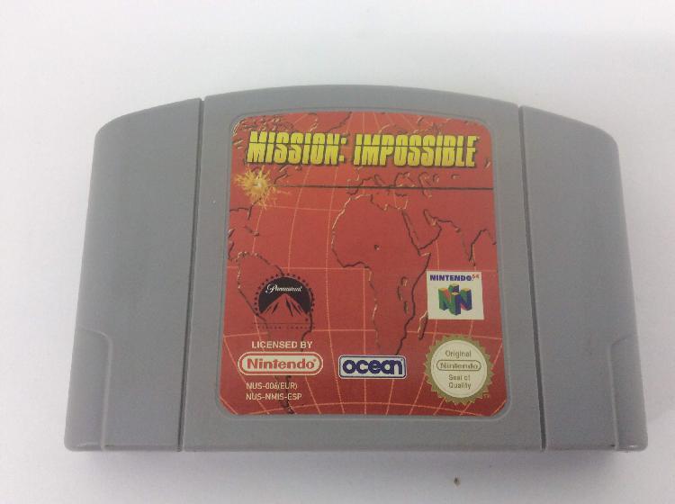 coleccionismo vintage nintendo mission impossible 64