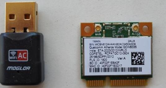 Tarjeta wifi 5ghz usb y tarjeta interna 2.4ghz