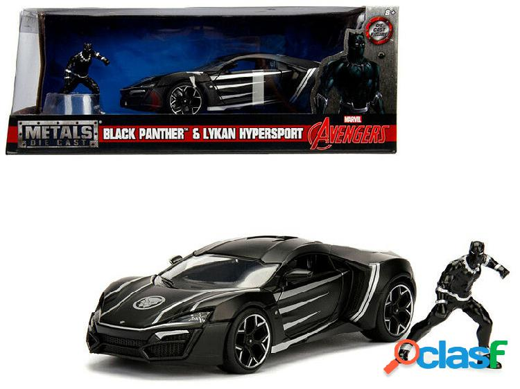 Replica coche black panther & 2017 lykan hypersport 1/24