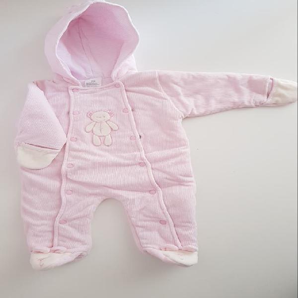 Mono niña rosa forma osito 6 meses