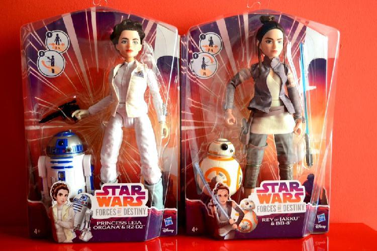 Star wars ¡pack! rey bb8 y leia r2d2 hasbro disney