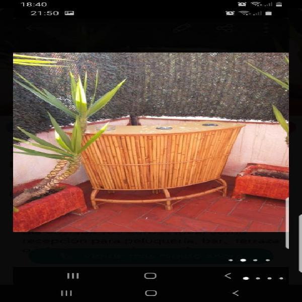 Mueble bar bambu