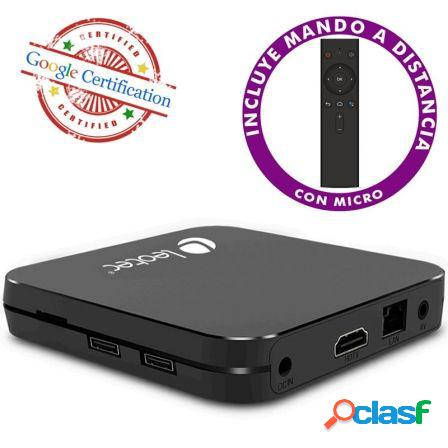 Android tv box leotec gcx2 432 - 4k - qc cortex-a53 - 32gb - 4gb ram -