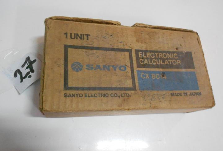 Antigua calcula sanyo cx 8014 nueva en su caja sin usar