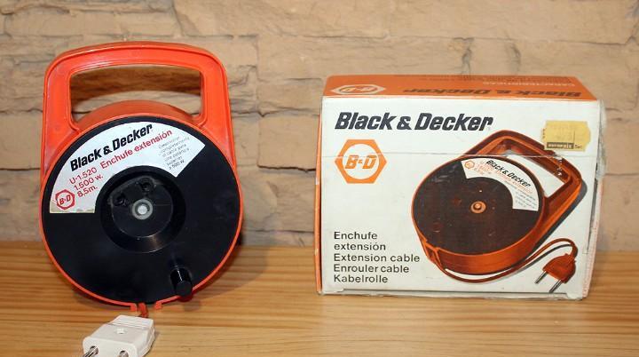 Black & decker - enchufe extensión o alargador - en su caja