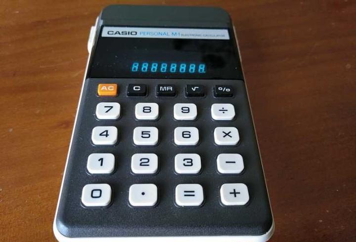 Calculadora casio personal m1 h-813 electronic calculator