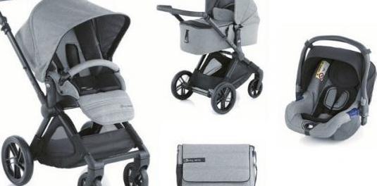 Carro de bebé completo jane muum gris