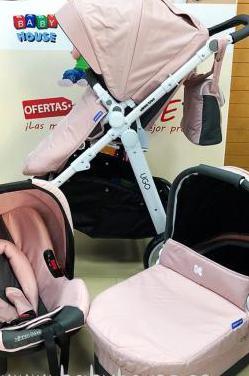 Carro trio kikka boo rosa nuevo