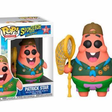 Figura pop sponge bob patrick in camping gear