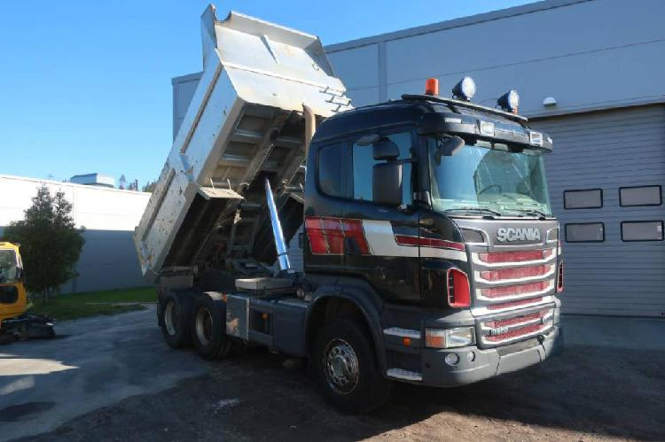 Scania r 560 6x4 tipper dump truck mercedes