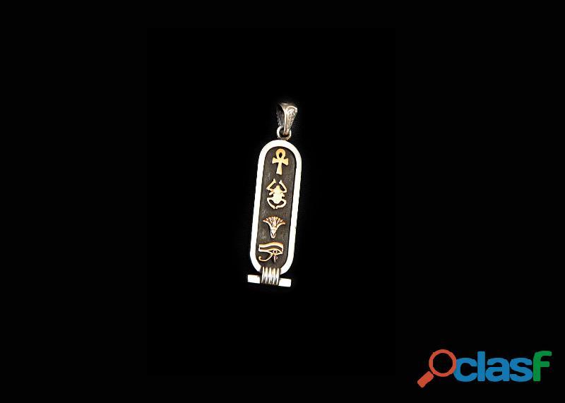 Cartucho Egipcio de plata de ley