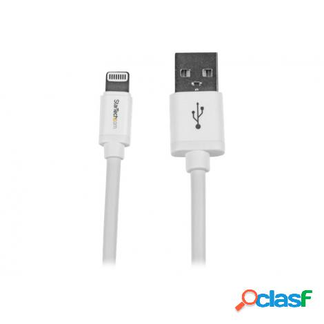 Cable startech usb 2.0 a macho / apple lightning macho 2m white
