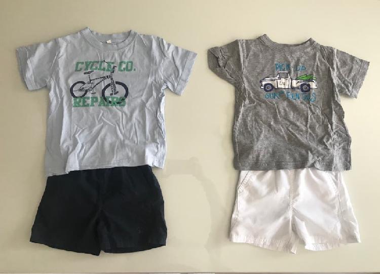 2 conjuntos camiseta y pantalon 3 años