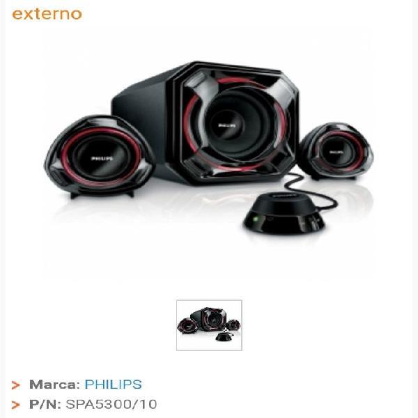 Altavoces multimedia philips spa5300, 100w