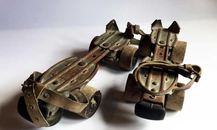 Antiguos patines marca estándar patentado apa – ruedas de