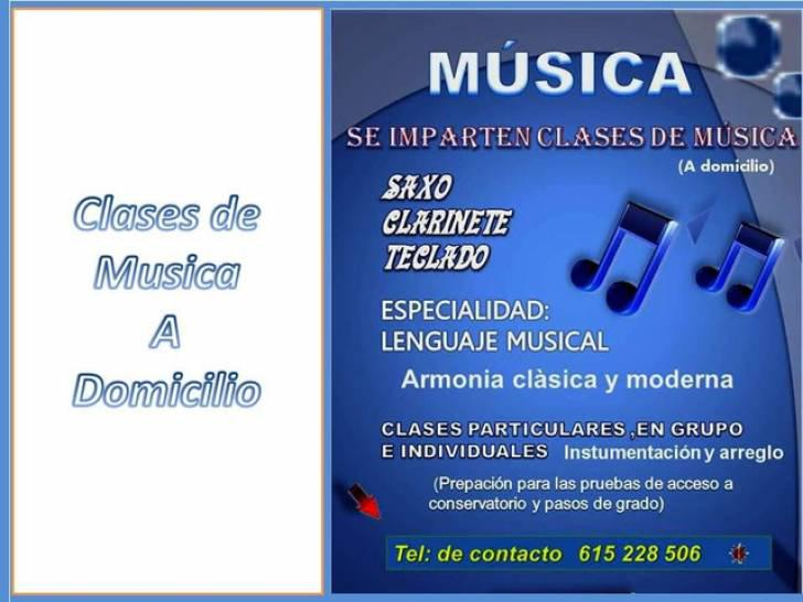 Clases particulares de musica a domicilio