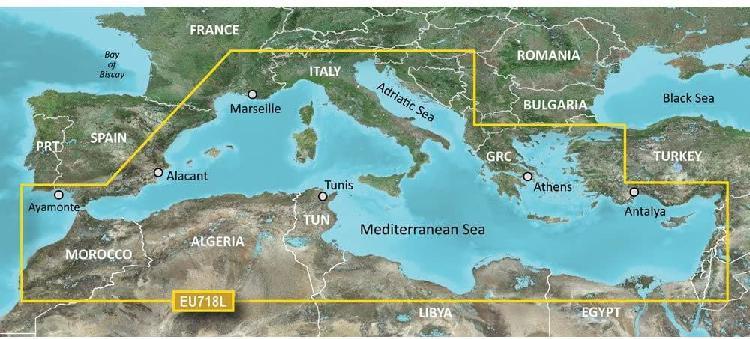 Cartografía garmin todo mar mediterraneo.