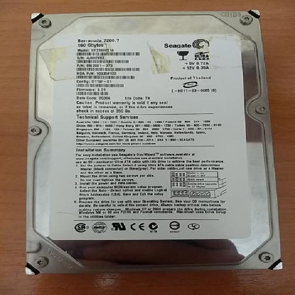 Disco duro ide 160gb
