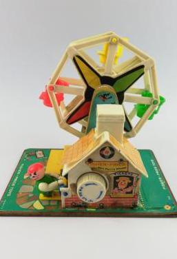 Fisher price toys music box ferris wheel 1966