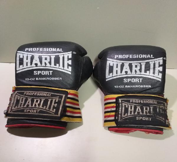 Guantes de boxeo charlie sport profesional 12 - oz