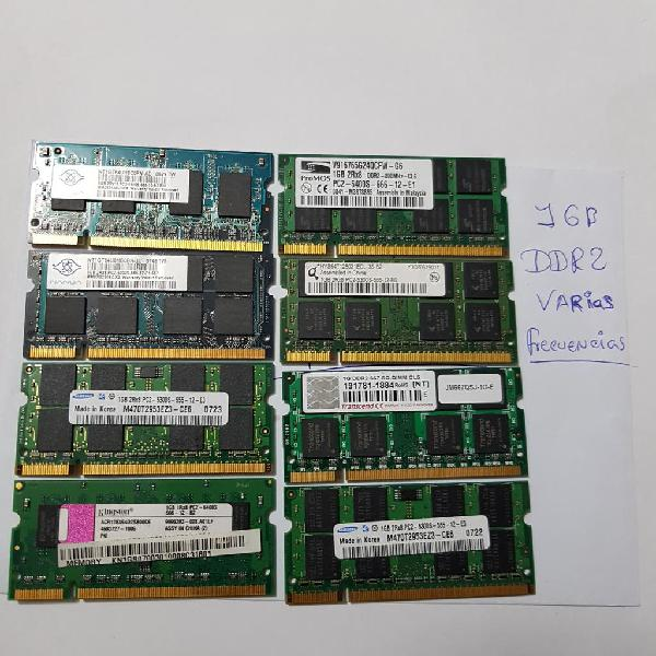 Memorias ram ddr2 1gb cada modulo vendo pack