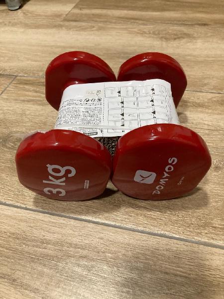 Mancuernas 2 x 3 Kg nuevas fitness pilates gym
