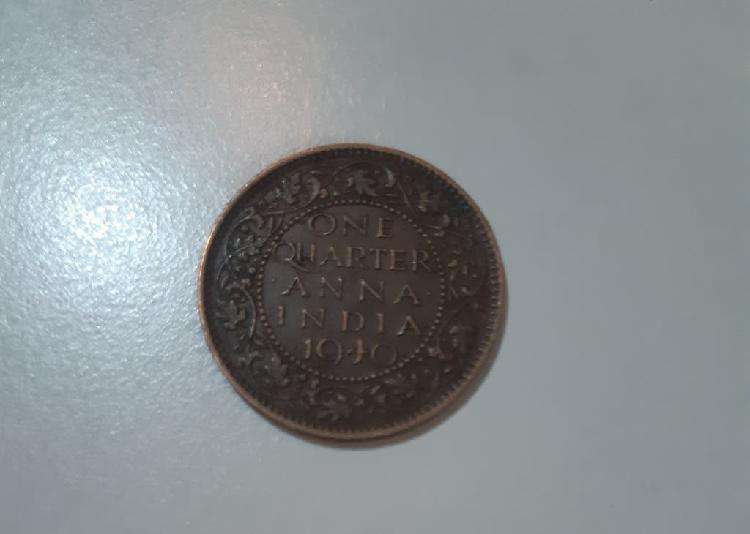 Monedas georgevi 1/4 anna india 1940