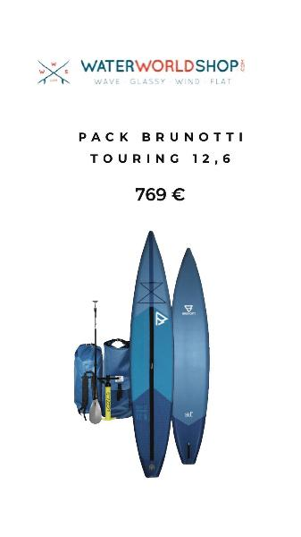 Pack brunotti touring - race paddle surf hinchable