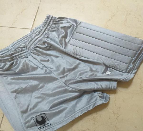 Pantalon portero 1990 rene higuita color gris uhlsport