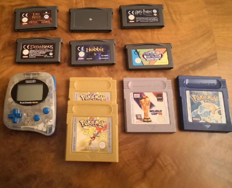 Pokemon mini + cartuchos gameboy variados