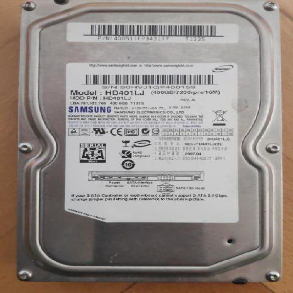 Disco duro sata samsung 400gb