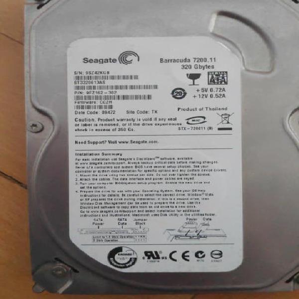 Disco duro sata seagate 320 gb
