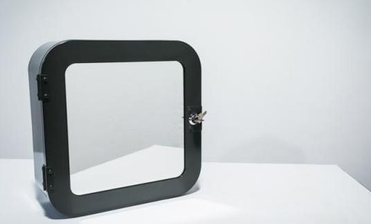 Caja metálica gris oscuro nueva