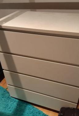 Comodo ikea de 4 cajones, blanco