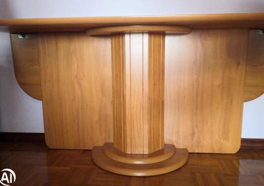 Mesa salón, plegable, de madera, cerezo.