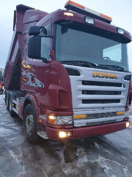 Scania 124 6x4 dump tipper truck 470 hp en venta