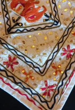 Tapete marroquí bordado