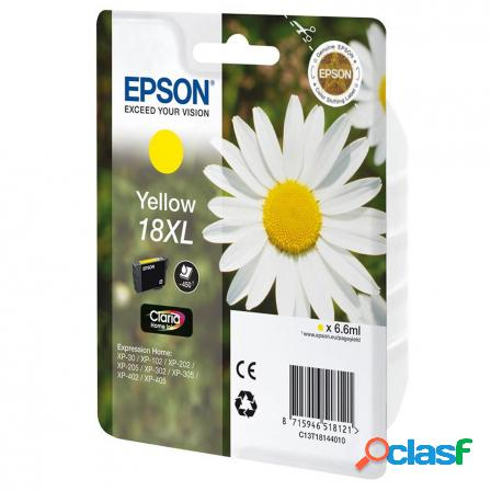 Cartucho epson 18xl 6.6ml amarillo - margarita