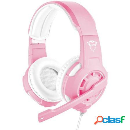 Auriculares con microfono trust gaming gxt 310p radius pink - drivers