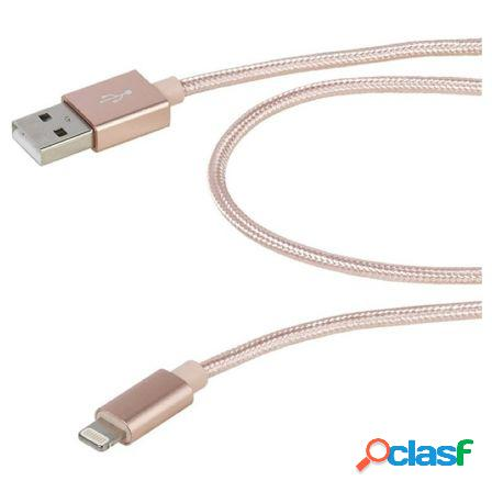 Cable lightning vivanco 37567 rosa - conectores usb-a a lightning - ma