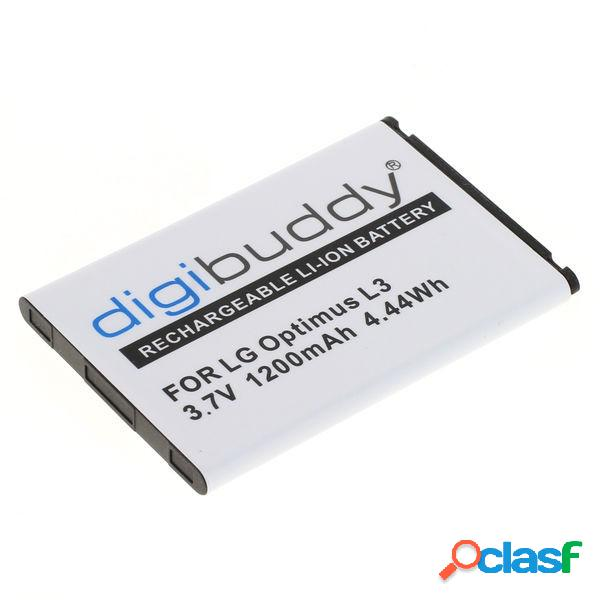 Bateria digibuddy para lg p970 optimus black, litio ion