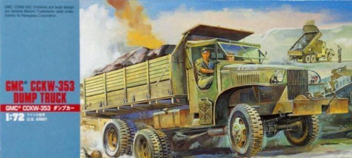 1/72 hasegawa u.s. gmc cckw-353 dump truck
