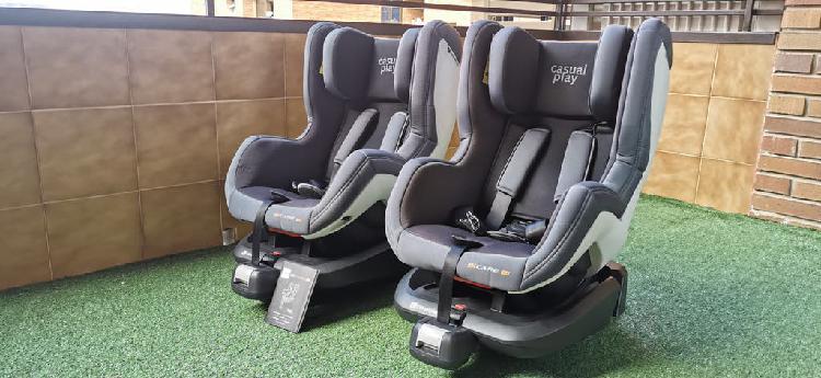 2 sillas coche casualplay bicare fix grupo 0+/1