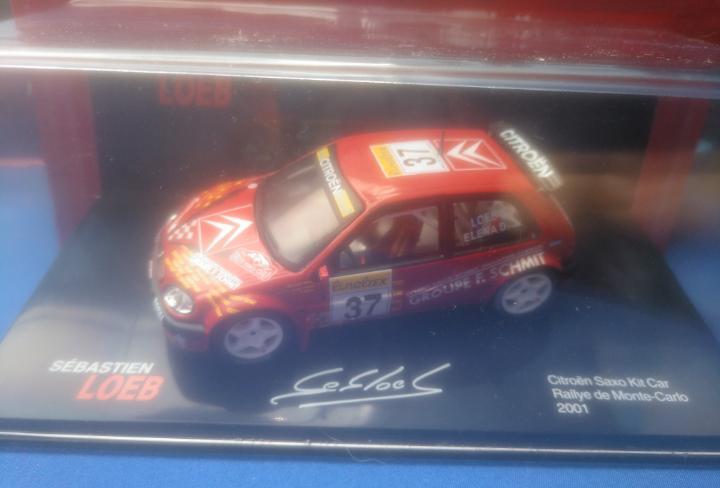 Citroen saxo kit car rallye de monte-carlo 2001, colección