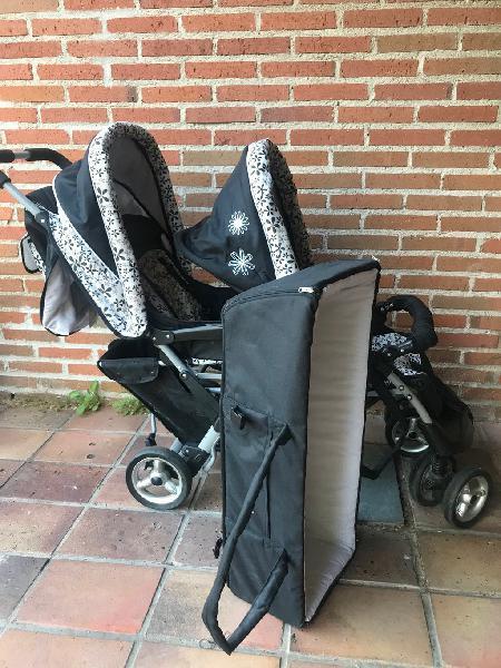 Carro 2 plazas bebe y niño o dos niños